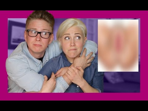 Gay Guy Learns About Vaginas ft. Hannah Hart Tyler Oakley
