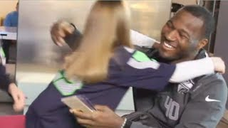 Super Bowl 48 Seahawks Derrick Coleman Meets Deaf Fans