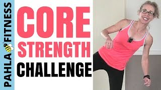 COREtober Challenge   35 Minute Full Length BODYWEIGHT Workout for ABS + BUTT Strengthening