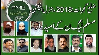 Election 2018: PML N Candidates in Distt Gujrat