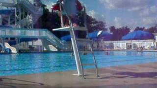 Having lesbian anus sex in the pool.