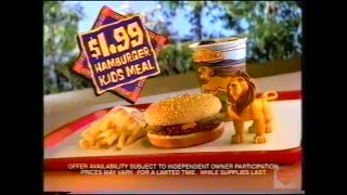 Burger King Lion King Kid's Meal Television Commercial 1994