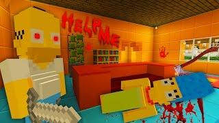 Homer Murders Everyone | The Simpsons |  Minecraft Xbox [51]