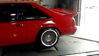 Red 89 Mustang Dyno run #2