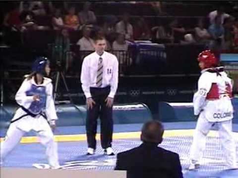 陳詩欣vs哥倫比亞:2004年雅典奧運跆拳道比� 實況