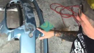 How To Repair Your Plastic Bumper Cover: Auto Collision Repairs. Part 1