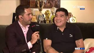 Diego Armando Maradona en Estudio Fútbol