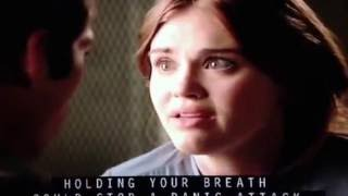 Stiles and Lydia kiss