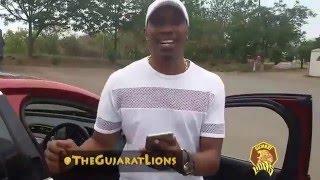 DJ Bravo's Champion Drive jaguar befor ipl9