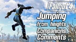 Fallout 4 - Jumping From Heights - All Companions Comments
