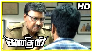 Kanithan Tamil movie | Scenes | Bhagyaraj encourages Atharva to solve the forgery case | Karunakaran
