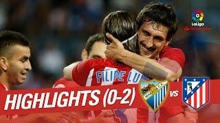 Resumen de Málaga CF vs Atlético de Madrid (0-2)