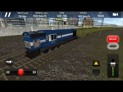 Indian Goods Train Driving - Engine WDM 3A | Indian Train Simulator 2018 - Free Android GamePlay HD