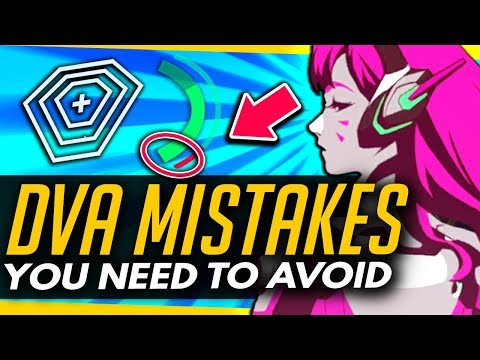 Overwatch   Top 5 WORST DVA MISTAKES!