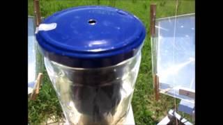 MUMA SOLAR COOKER TEST CON BOLLITORE JAR-IN-JAR