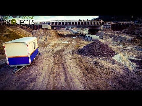 Eerste drone onder viaduct door N18 Drone Projects