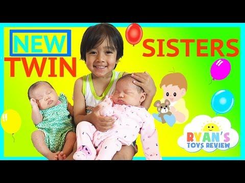 Xxx Mp4 TWIN GIRLS Reveal Ryan ToysReview Newborn Baby Sisters New Family Members 3gp Sex