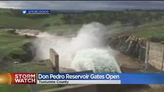 Don Pedro Spillway Opens For First Time Since 1997