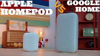 Apple homepod vs google home comparison - siri and Google assistant - best top - music - SCREENSHOTZ