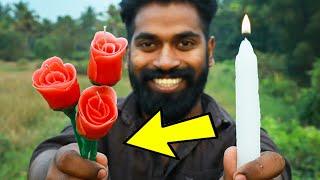 Candle to Rose Candle Making | മച്ചാനെ ഇത് ഇത്ര എളുപ്പമാർനോ ? | M4 Tech |