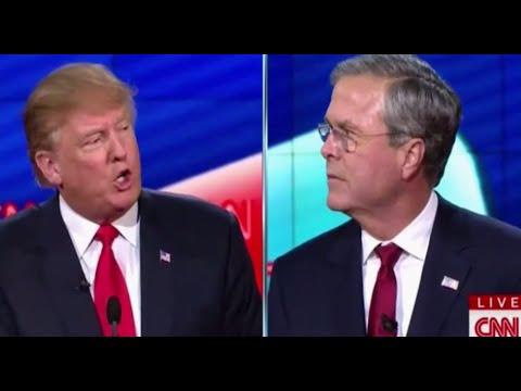Donald Trump vs. Jeb Bush HEATED Arguments at Debate 12 15 15