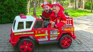 Ride On Fire Engine for Kids - Unboxing, Review and Riding