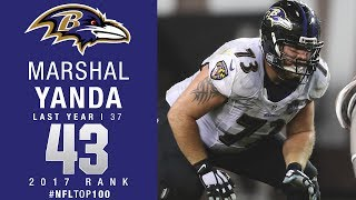 #43: Marshal Yanda (G, Ravens) | Top 100 Players of 2017 | NFL