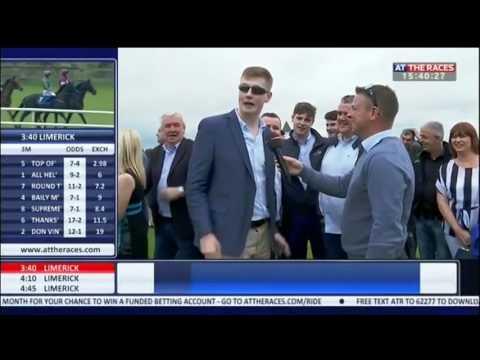 Irish men get rowdy at horse races