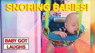 60 Funny Babies Who Snore Louder Than Dad!   Sleepy Babies Compilation