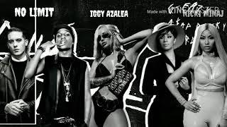 G-EAZY,IGGY AZALEA - NO LIMIT (REMIX) CARDI B,NICKI MINAJ & A$AP ROCKY