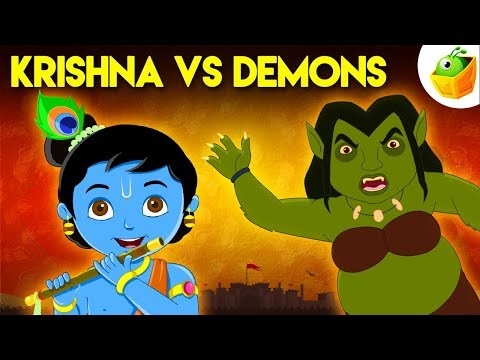 Xxx Mp4 Krishna Vs Demons Full Movie HD Animated Movie English Stories For Kids 3gp Sex