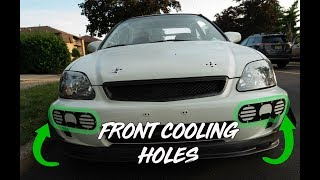 HOW TO INSTALL FRONT BUMPER COOLING HOLES