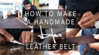 How to make a HANDMADE LEATHER BELT // Bolso Bags