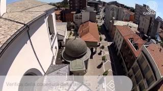 Con il drone sopra la Basilica di Gallarate