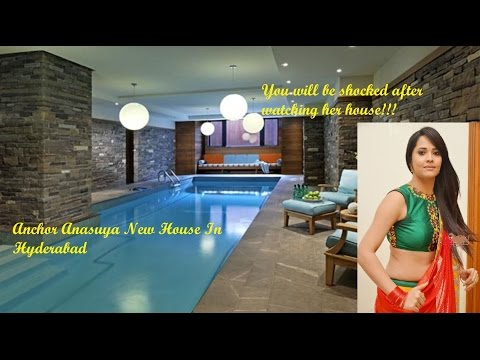 Anchor Anasuya new house in Hyderabad!!! Interior is mind blowing!!!