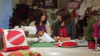 How to Make a Christmas Table Runner - Pillow - Quilt