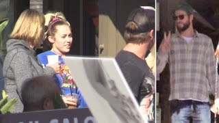 Miley Cyrus Looks So Comfortable With Liam Hemsworth's Family In Malibu