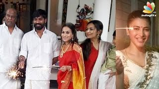 Tamil actors & their Diwali celebrations | Rajinikanth, Dhanush, Shruti Hassan, Keerthi Suresh