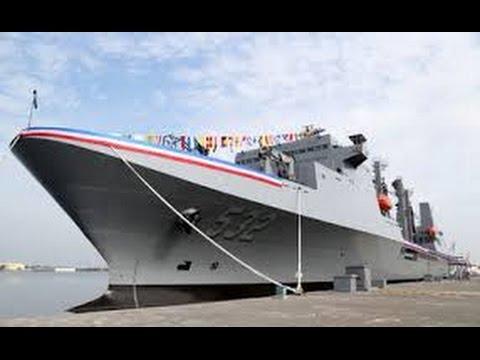 挑戰新聞軍事精華版 海軍最大軍艦磐石艦正式交艦