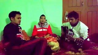 acoustic guitar lesson (juboti radhe) যুবতী রাধে with lyrics