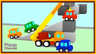 Cartoon Cars - CLEVER CRANE - Cartoon COMPILATION Cartoons for Children #6. Kids Cars Cartoons
