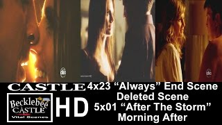 """Castle 4x23 """"Always"""" End Scene Kiss Deleted Scene (Brightened) 5x01 """"After The Storm""""  (HD)"""