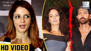 Sussanne Khan Finally Reacts On Hrithik And Kangana Controversy  | LehrenTV
