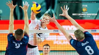 TOP 30 BEST Volleyball PIPE   2018 FIVB Men's Club World Championship