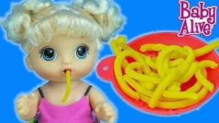 Baby Alive Spagetti Seven Bebeğime Makarna Hazırlıyorum   EvcilikTV