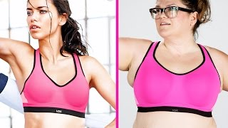 Women Test The Fit Of Sports Bras