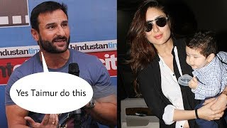Saif Ali Khan reveals Taimur Ali Khan do this when mommy Kareena is not arround|Omg