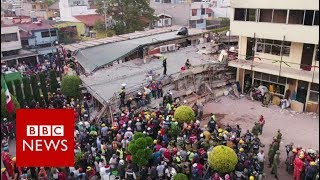 Mexico earthquake: Race to find survivors under collapsed school - BBC News