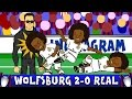 Download Video Download Wolfsburg vs Real Madrid 2-0 FOOTBALLERS REACT (UEFA Champions League 2016 Parody) 3GP MP4 FLV