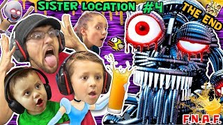 FGTEEV CHASE-ARELLA! FNAF SISTER LOCATION Night 4 & 5 THE END! JUMP SCARE Wiggle Wiggle ORANGE JUICE